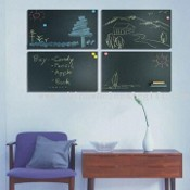 Frameless Magnetic Blackboard with MDF Backing images