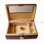 Double Wine Humidor Box with Window images