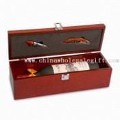 One Bottle Wine Box with Stainless Steel Accessories images