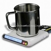 3-in-1 USB Powered Cup Warmer with Clock and 4-port Hub images