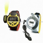 Multifunction FM Radio Watch with Mini Torch and Earphone images