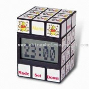 Magic Cube Clock with LCD Alarm Clock images