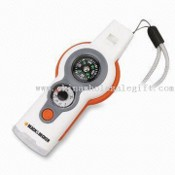 Multi-function LED Flashlights with Magnifier Compass and Whistle images