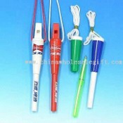 New Whistle Ballpoint Pen with Neck Strap images