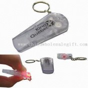 Plastic Whistle with LED Light and key holder images