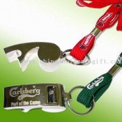 Zinc Alloy Whistles with Openers and Engraved Logos images