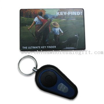 Ultimate Key Finder, Credit Card Size Transmitter with Beep Alarm and Flashlight