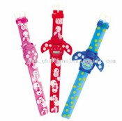 Children LCD Watch with Colorful imprint PVC Strap images