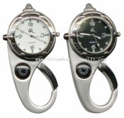 Hanging watch with compass carabiner images