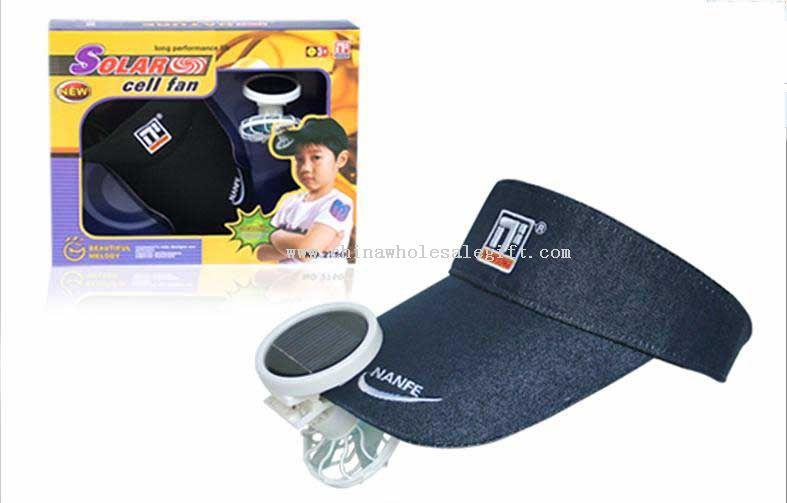 Solar cap with fan