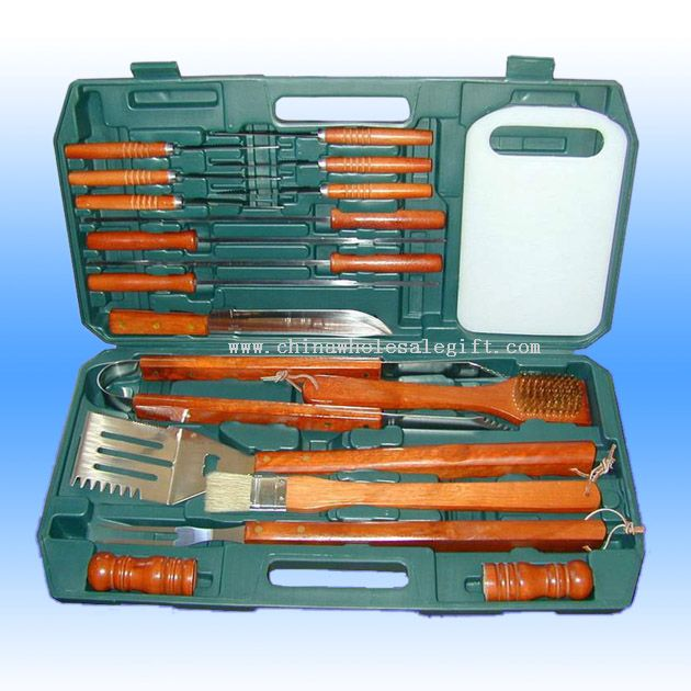 19 Pcs Stainless Steel Barbecue Tool Set