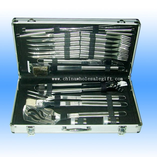 24 Pcs Stainless Steel Barbecue Tool Set