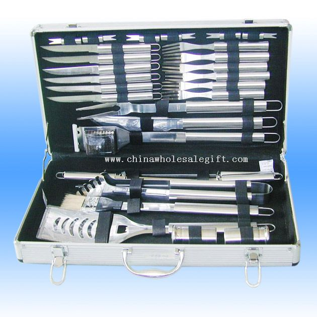 30 Pcs Stainless Steel Barbecue Tool Set