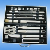 18 pcs stainless steel bbq tool set images