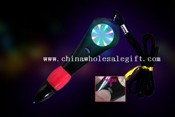LED Light Tunnel Ballpoint Pen with Cord Worn Around Neck images
