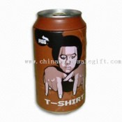 Mens 100% Cotton Compressed T-shirt in Metal Cola Can Shape images