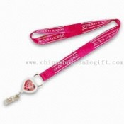 Cotton Lanyard with Badge Reel and Keyring Attachment images