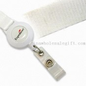 Promotional Polyester Lanyard with Plastic Badge Reel Holder images