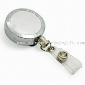 Retractable Key ID Badge Reel with Chrome-plated Finish images