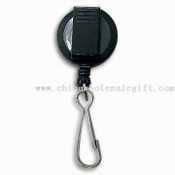 Roundness Badge Reel with Plastic Clip and Zinc Alloy Hook images