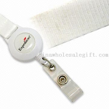 Promotional Polyester Lanyard with Plastic Badge Reel Holder