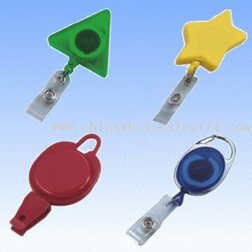 Retractable Badge Holder with Belt Clip and PVC Strap