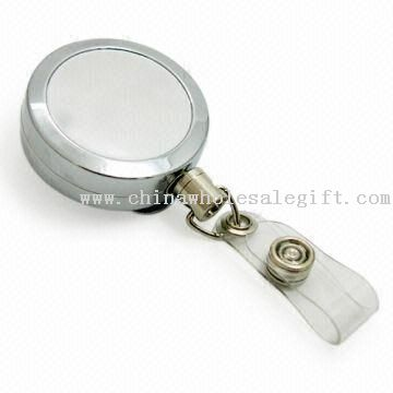 Retractable Key ID Badge Reel with Chrome-plated Finish