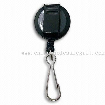 Roundness Badge Reel with Plastic Clip and Zinc Alloy Hook