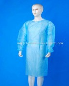 Surgical gown with knit cuffs images