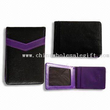 Card Holder with Clear Card Windows