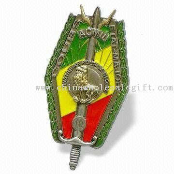 Emblem Lapel Pin with Shield Design