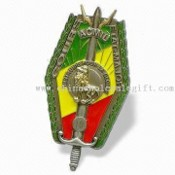 Emblem Lapel Pin with Shield Design images