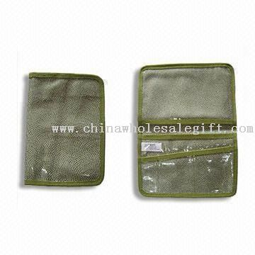 Passport Holder with Clear Card Windows and Slot