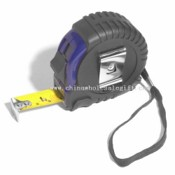 Logoed Tape Measure - 16 Rubber/Blue Plastic images