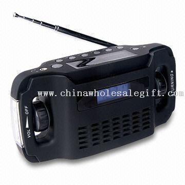 Solar and Dynamo Digital Display Radio with AM/FM