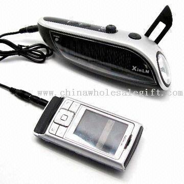 Solar Power Hand-cranked Flashlight Radio