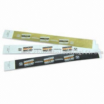 100% Tyvek Wristbands with Snap and Adjustable Holes, Fit Various Wrist Sizes