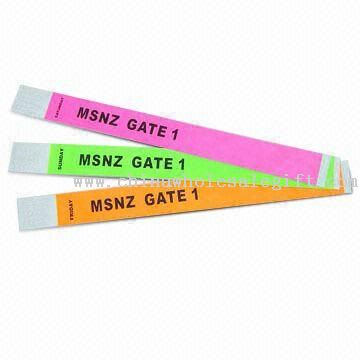 100% Tyvek Wristbands with Snap and Adjustable Holes