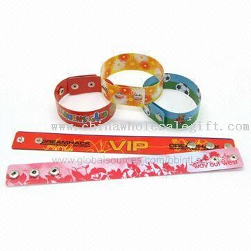 Flexible Button Wristbands with Reusable Snaps, Available in Various Colors