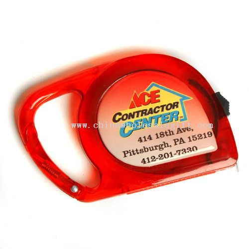 Logoed Carabiner Dome Tape Measure, 10 ft