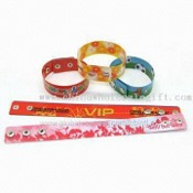 Flexible Button Wristbands with Reusable Snaps, Available in Various Colors images