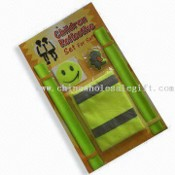 Warning Vest Sets, Snap Reflective Band, Safety Bracelets for Promotional and Gifts Purposes images
