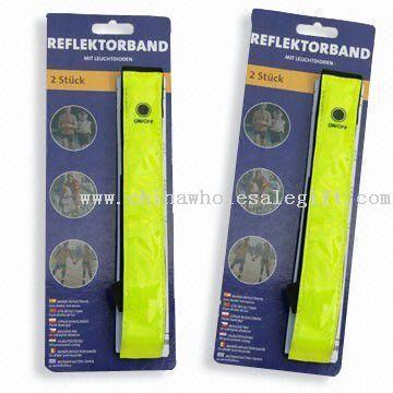 Reflective Slap Wrap + LED, Reflective Snap Bracelet