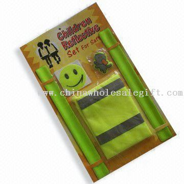 Warning Vest Sets, Snap Reflective Band, Safety Bracelets for Promotional and Gifts Purposes