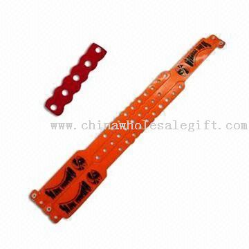 WRIST BAND SERIES-4 Bracelet with Unrepeatable Snap Button Design and Made of PVC or TPU