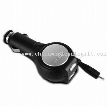 Convenient Mobile Phone Car Charger with 4 to 9V DC Output Voltage and 12 to 24V AC Input Voltage