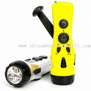 LED Flashlight Radios with Mobile Phone Charger