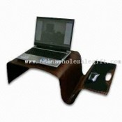 Computer Desk with Mouse Tray and Notebook in Corporate Design images