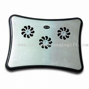 3-fan Notebook Cooling Pad with Light Indicator and Low Noise