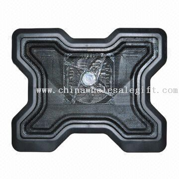 Laptop Cooling Pad with Aluminum Panel and Plastic Body